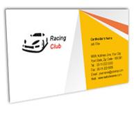 Online Business Card printing Racing Club
