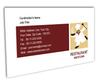 Online Business Card printing Restaurant