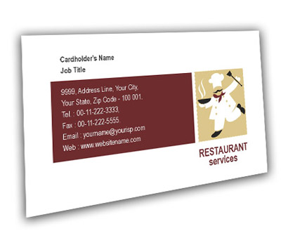 Online Business Card printing Restaurant