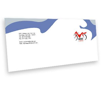 Online Envelope printing Bike Shop