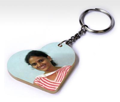 Online Key Chains printing Acrylic Heart Shape Keychain