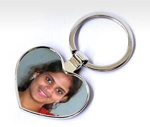 Key Chains printing Metal Hearts
