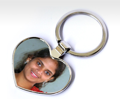 Online Key Chains printing Metal Hearts