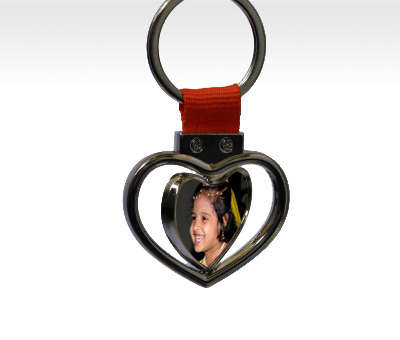 Online Key Chains printing Rotating Hearts