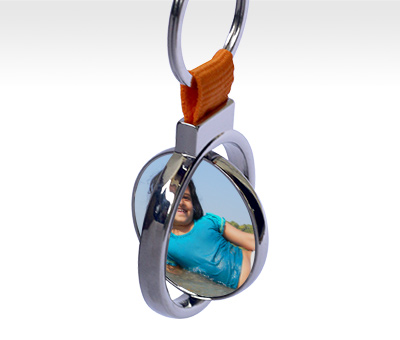 Online Key Chains printing Rotating Circle