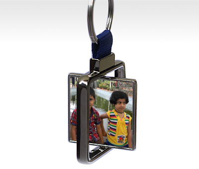 Online Key Chains printing Rotating Square