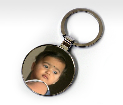 Online Key Chains printing Metal Round