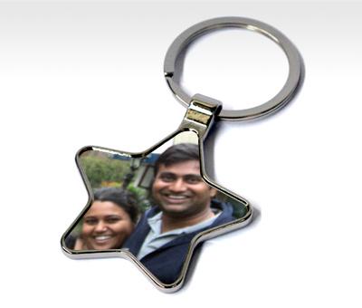 Online Key Chains printing Metal Star