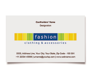 Business Card printing Fashion Clothing