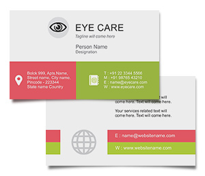 Business Card printing Eye Care Centre