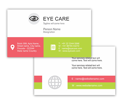 Online Business Card printing Eye Care Centre