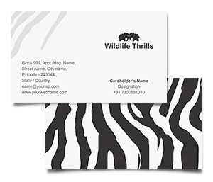 Business Card printing Wildlife Thrills