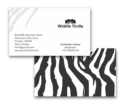Online Business Card printing Wildlife Thrills