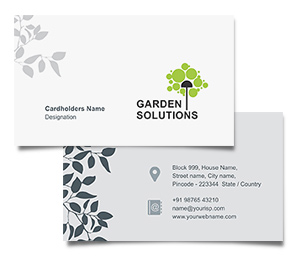 Business Card printing Gardening Solutions