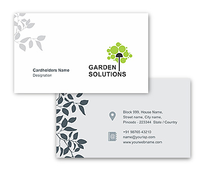 Online Business Card printing Gardening Solutions