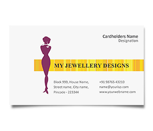Business Card printing Jewelry Designing