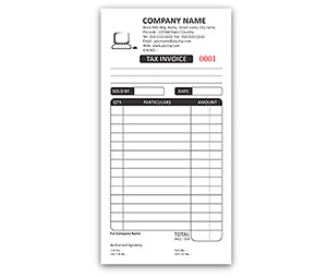 Bill Book printing Tax Invoice DL Size