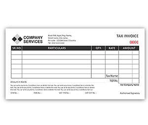 Bill Book printing Invoice DL Size
