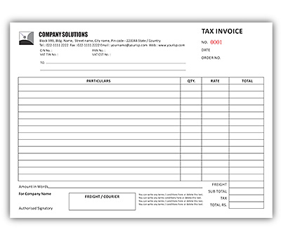 Online Bill Book Printing Tax Invoice A4  Bill Book Template