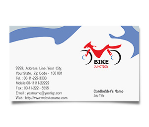 Business Card printing Bike Shop