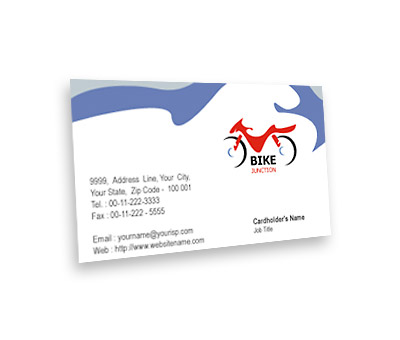 Online Business Card printing Bike Shop