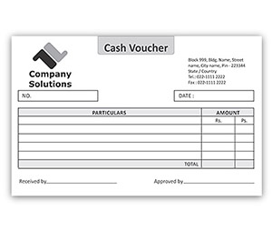 Bill Book printing Cash Voucher