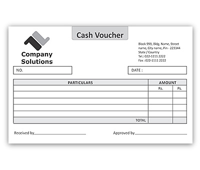 Bill Book Design for Cash Voucher Offset or Digital printing