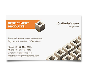 Business Card printing Cement Block Supplier