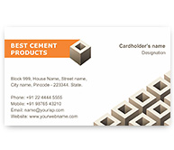 Online Business Card printing Cement Block Supplier