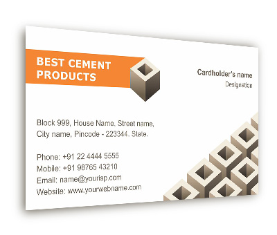 Business card design for cement block supplier offset or digital online business card printing cement block supplier reheart Gallery
