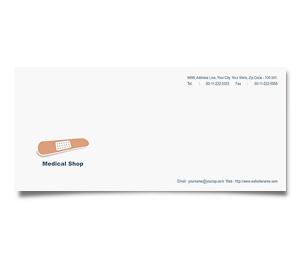 Envelope printing Medical Shop