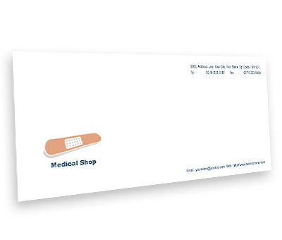 Online Envelope printing Medical Shop