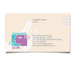 Business Card printing Fashion Club