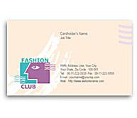 Online Business Card printing Fashion Club