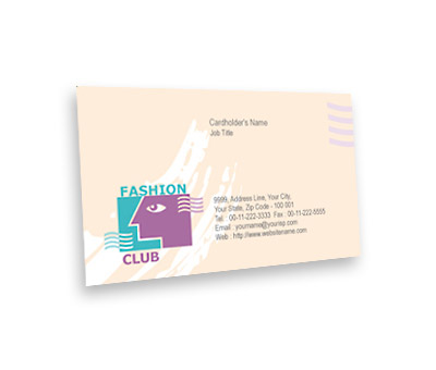 Online Business Card printing Fashion Club