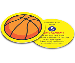 Business Card - Die Cut printing Sports Shop