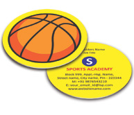 Online Business Card - Die Cut printing Sports Shop