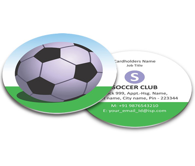 Online Business Card - Die Cut printing Football club