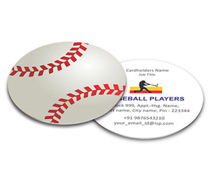 Business Card - Die Cut printing Baseball Association