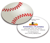 Online Business Card - Die Cut printing Baseball Association