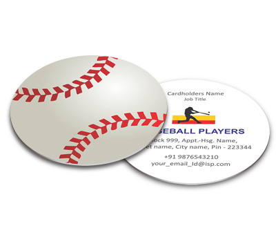 Business card die cut design for baseball association offset or online business card die cut printing baseball association reheart Image collections