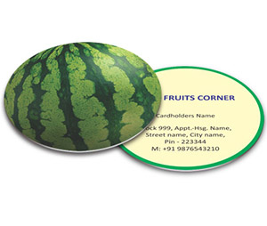 Business Card - Die Cut printing Fruit Mart