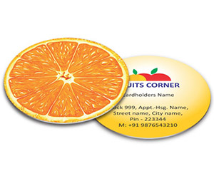 Business Card - Die Cut printing Fruit Shop