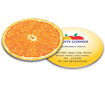 Online Business Card - Die Cut printing Fruit Shop