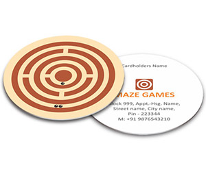 Business Card - Die Cut printing Maze Game