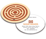 Online Business Card - Die Cut printing Maze Game