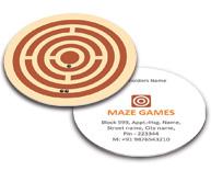 Online Business Card - Die Cut printing Maze Game