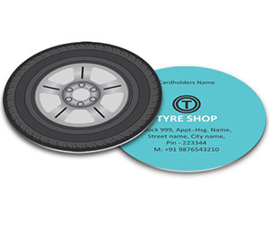 Business Card - Die Cut printing Tyre Shop