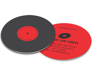 Business Card - Die Cut printing Vinyl Record Shop