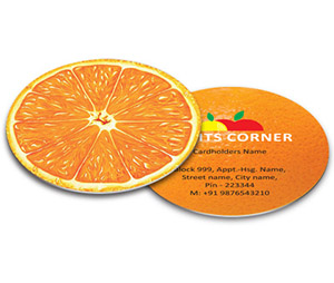 Business Card - Die Cut printing Fruit Store